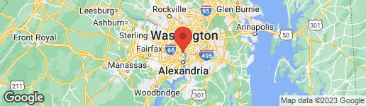 Map of 1300 CRYSTAL DRIVE 606S ARLINGTON, VA 22202