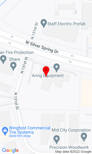 Google Map of Aring Equipment Company, Inc. 13001 W Silver Spring Drive, Butler, WI, 53007