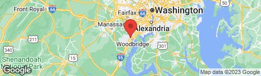 Map of 13006 HUNTERBROOK DRIVE WOODBRIDGE, VA 22192