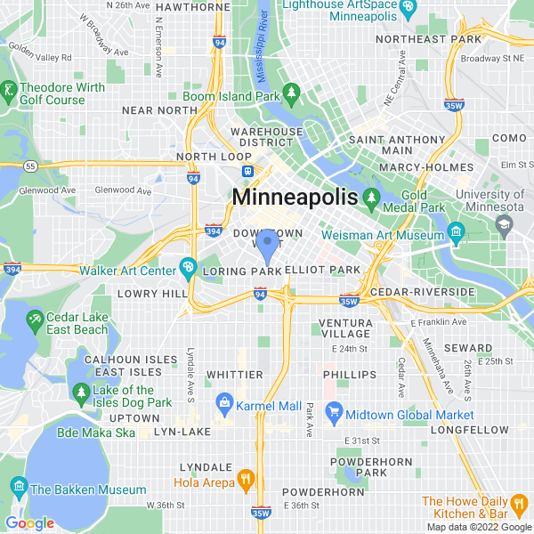 Wizard World: Minneapolis Map