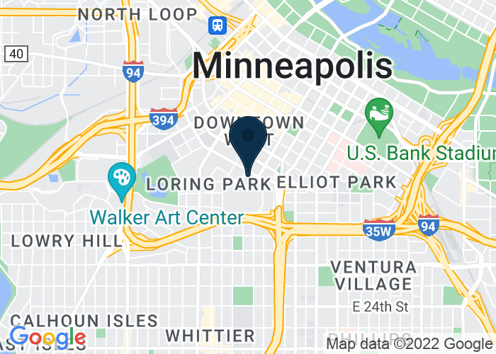Map of 1301 2nd Ave S, Minneapolis, MN, United States