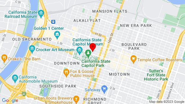 Google Map of 1301 L Street, Sacramento, CA 95814, Sacramento, CA
