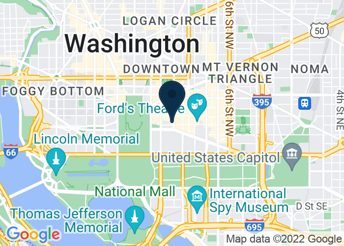 Map of 1301 Pennsylvania Avenue NW, Washington, DC 20004, United States