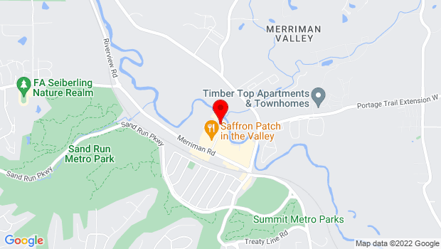 Google Map of 1301 Weathervane Lane, Akron, OH 44313