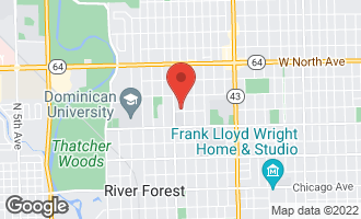 Map of 1302 Jackson Avenue RIVER FOREST, IL 60305