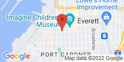 Google Map of 1303 Pacific Avenue+Everett+WA+98201
