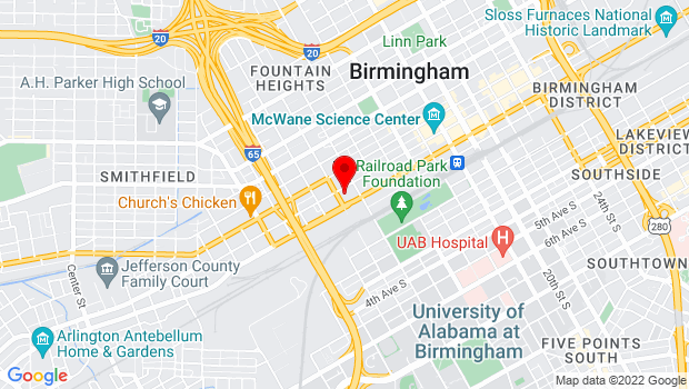 Google Map of 1305 2nd Ave N Ste 101, Birmingham, AL 35203