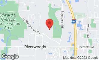 Map of 1305 Studio Lane RIVERWOODS, IL 60015