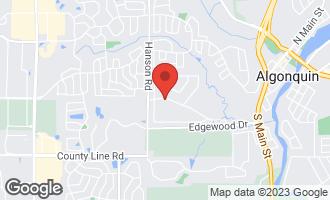 Map of 1305 Zange Drive ALGONQUIN, IL 60102