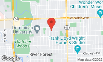 Map of 1306 Jackson Avenue RIVER FOREST, IL 60305