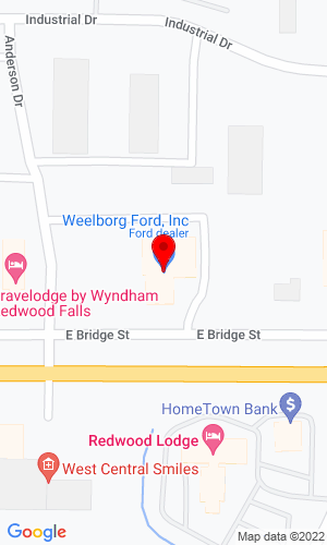Google Map of Kohls-Weelborg Truck Center 1307 E. Bridge Street, Redwood Falls, MN, 56283