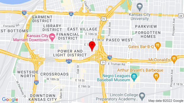 Google Map of 1307 Holmes Street, Kansas City, MO