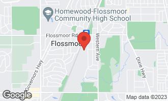 Map of 1307 Bunker Avenue FLOSSMOOR, IL 60422