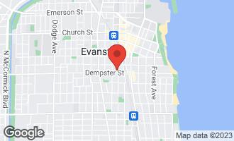 Map of 1308 Elmwood Avenue EVANSTON, IL 60201