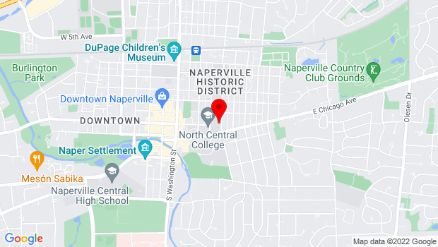 Google Map of 131 S. Loomis St., Naperville, IL 60540