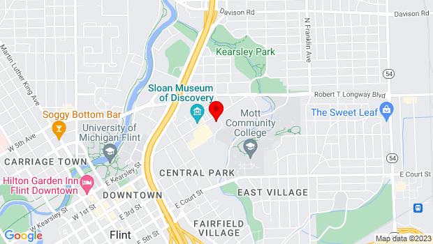 Google Map of 1310 E. Kearsley St., Flint, MI 48503