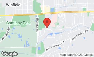 Map of 1310 Pin Oak Court WHEATON, IL 60189