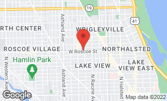 Map of 1310 West Roscoe Street CHICAGO, IL 60657