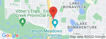 Google Map of 13103+Lake+Fraser+Drive+SE%2CCalgary%2CAlberta+T2J+3H5
