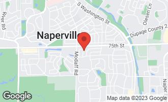 Map of 1312 Carol Lane NAPERVILLE, IL 60565