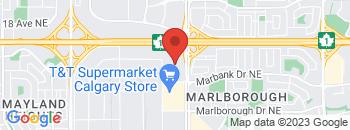 Google Map of 1313+-+36+Street+NE%2CCalgary%2CAlberta+T2A+6P9