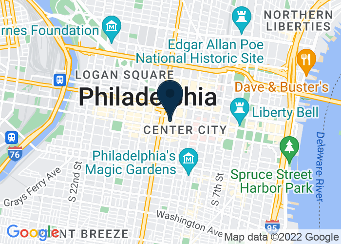 Map of 1315 Sansom Street, Philadelphia, PA 19107