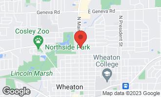 Map of 1317 North Main Street WHEATON, IL 60187