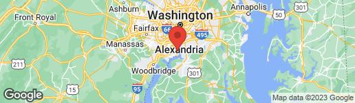 Map of 1318 BUNKER HILL ROAD ALEXANDRIA, VA 22308