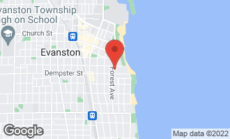 Map of 1319 Forest Avenue EVANSTON, IL 60201