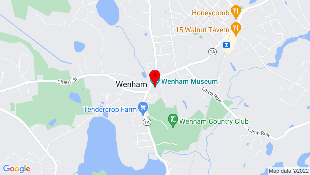 Google Map of 132 Main St., Wenham, MA 01984