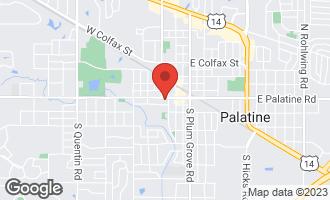 Map of 132 West Johnson Street #306 PALATINE, IL 60067