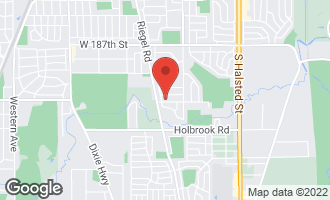 Map of 1320 191st Street HOMEWOOD, IL 60430