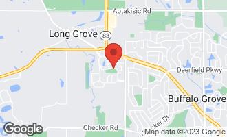 Map of 1321 Fairfax Lane BUFFALO GROVE, IL 60089