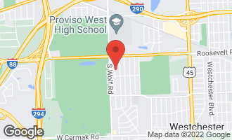 Map of 1321 Heidorn Avenue WESTCHESTER, IL 60154