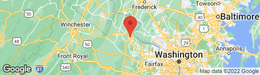 Map of 133 CHESTERFIELD PLACE SW LEESBURG, VA 20175