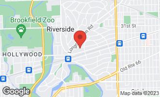 Map of 133 Herrick Road RIVERSIDE, IL 60546