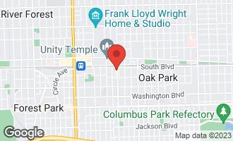 Map of 133 South Oak Park Avenue OAK PARK, IL 60302