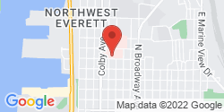Google Map of 1330 Rockefeller Avenue+Everett+WA+98201