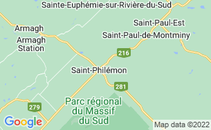 Map of Camping St-Philémon