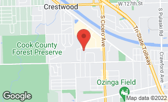 Map of 13308 West Circle Drive Parkway #106 CRESTWOOD, IL 60418