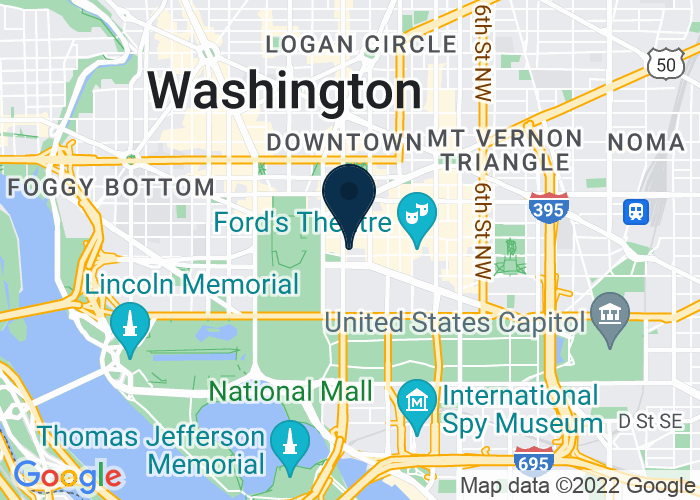 Map of 1331 Pennsylvania Ave NW, Washington, DC 20004, United States