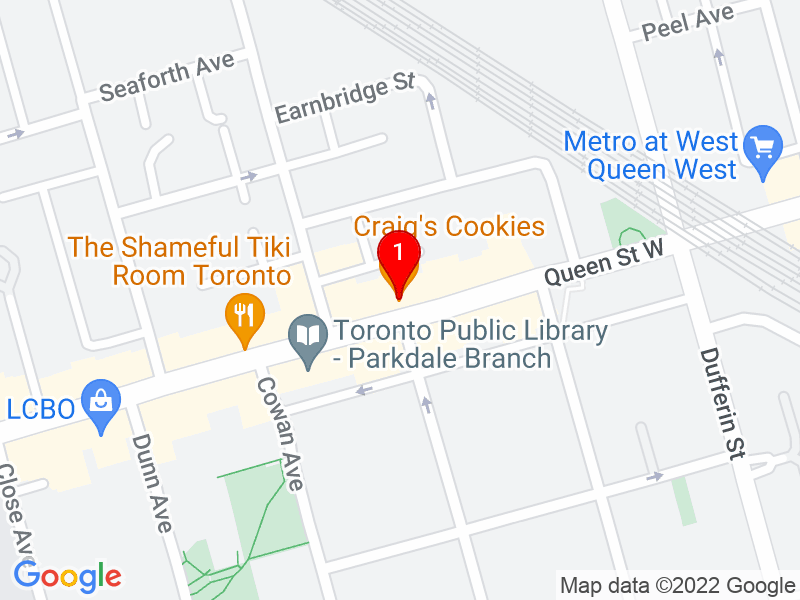 Google Map of 1332 Queen Street West, Toronto, ON