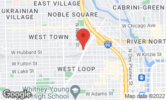 Map of 1332 West Hubbard Street 1E CHICAGO, IL 60642