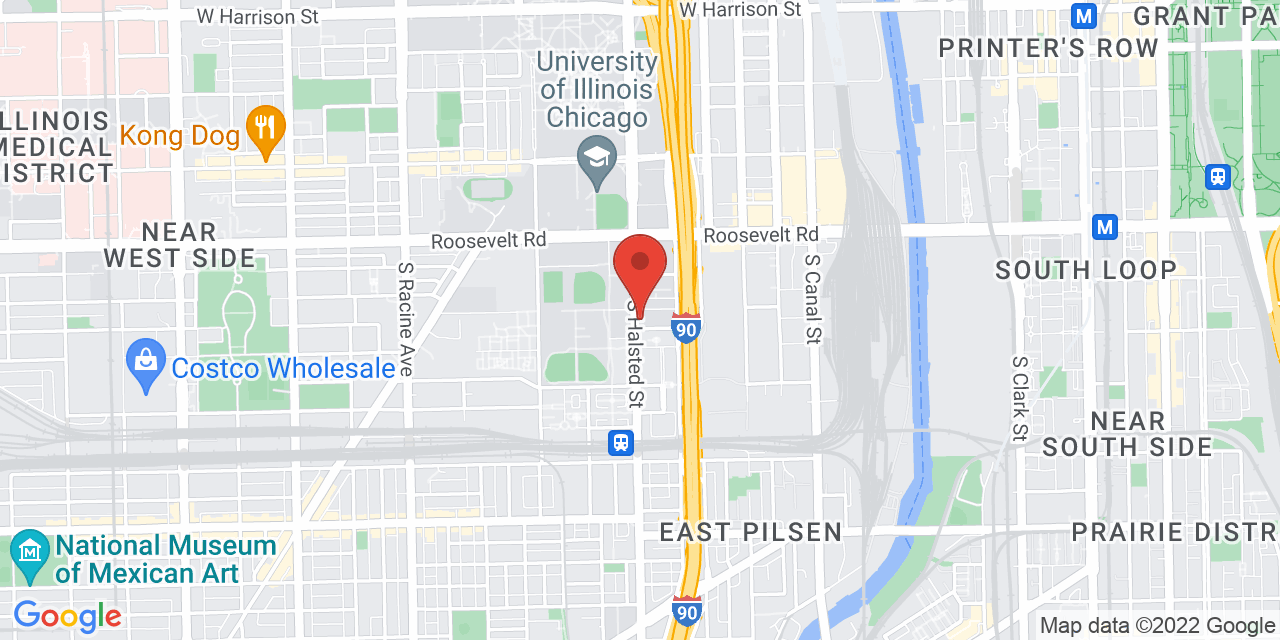Google Map of 1333 S Halsted St