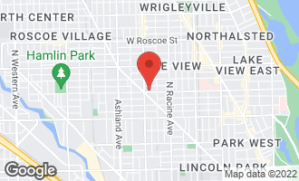 Map of 1334 West Wellington Avenue CHICAGO, IL 60657