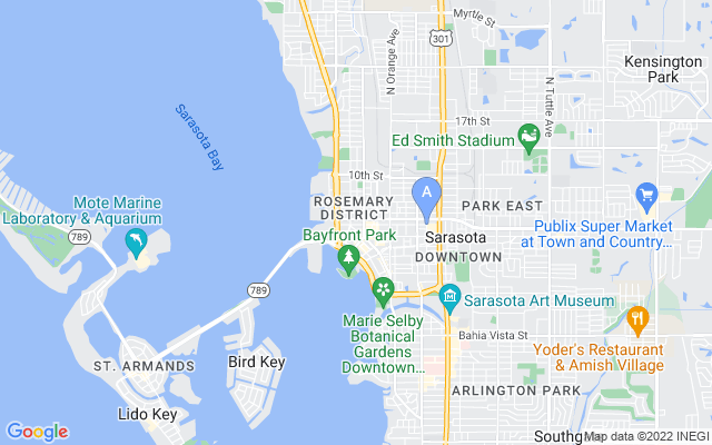 1335 Second Street #ph8 Sarasota Florida 34236 locatior map