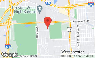 Map of 1337 Evers Avenue WESTCHESTER, IL 60154