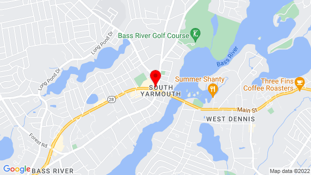 Google Map of 1338 Route 28, South Yarmouth, MA 02664, South Yarmouth, MA 02664