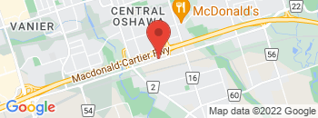 Google Map of 134+Bloor+Street+East%2COshawa%2COntario+L1H+3M4