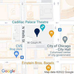 Google Map of 134 N. Lasalle St. Chicago, IL 60602 U.S.A.
